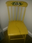 old yellow chair