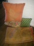 pillows and fabrics