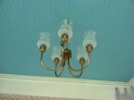 An antique light fixture for vintage charm!
